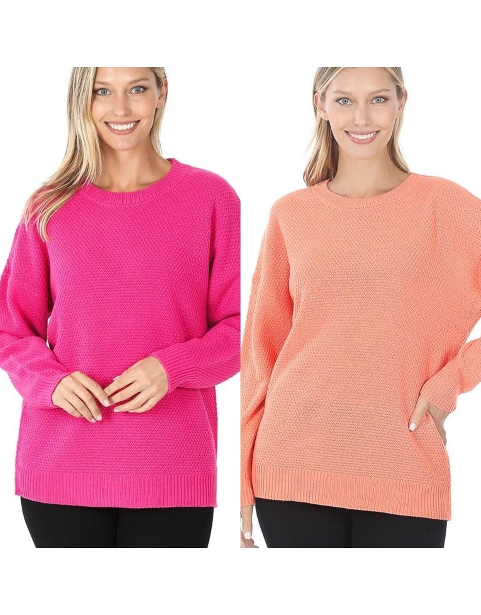 Zenana Premium LENNON Round Neck Sweater