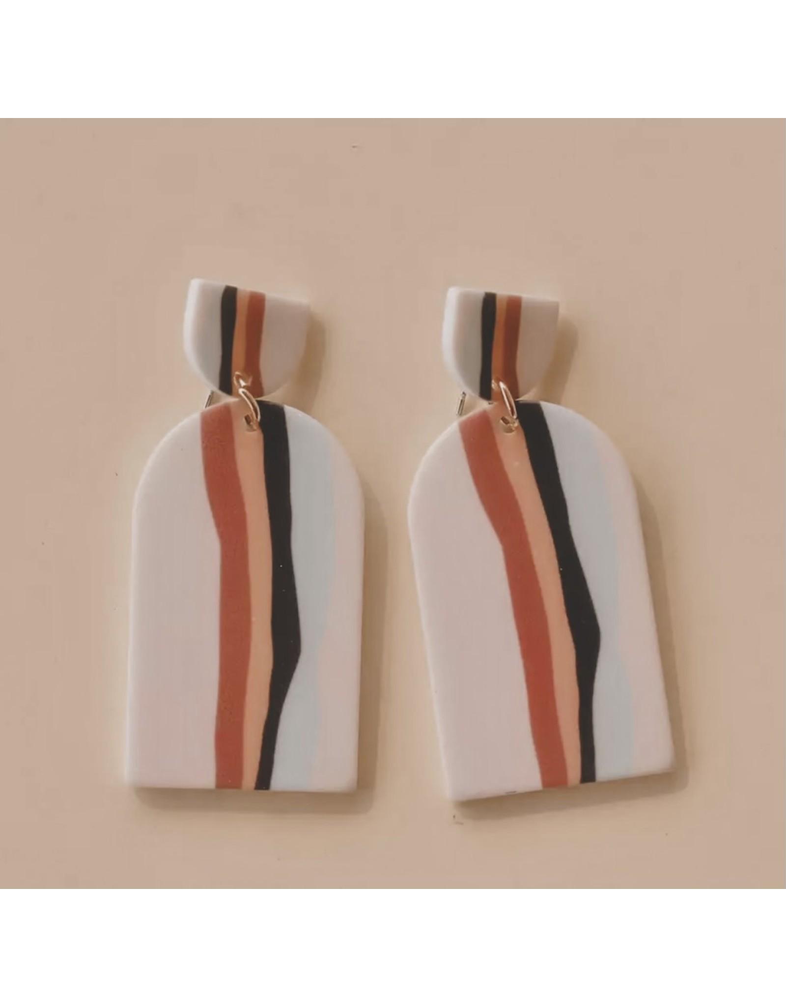 MCKENNA Blush Clay Earrings