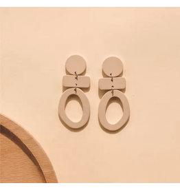 The Ritzy Gypsy PEPSI Tan Acrylic Earrings