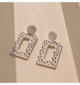 CRUELLA White Clay Earrings