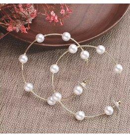 OAKLEY Pearl Hoop Earrings