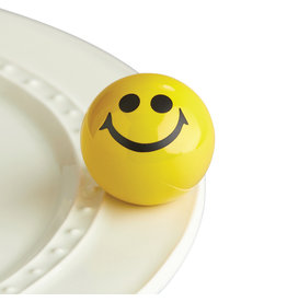Nora Fleming ALL SMILES Mini (Yellow Smiley Face)