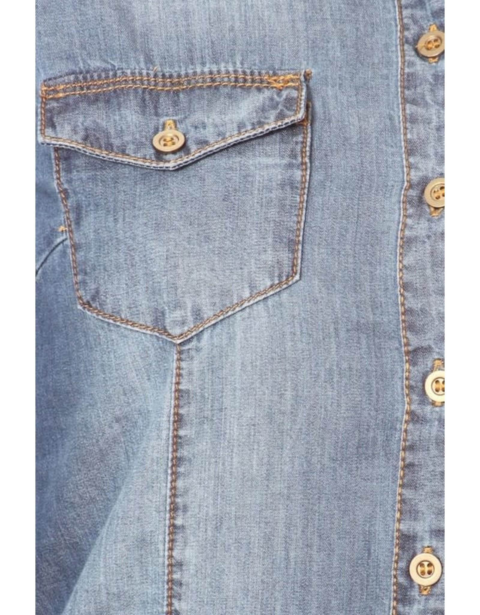 Color5 SYD Button Up Denim Top