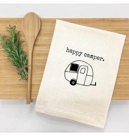 Things UnCommon HAPPY CAMPER Tea Towel