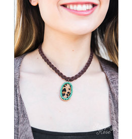 Southern Grace BRAIDS Braided Necklace with Pendant
