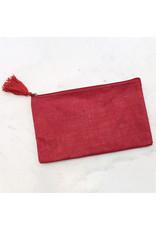 The Ritzy Gypsy GET PRETTY Jute Cosmetic Bag (includes monogram)