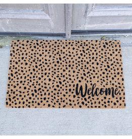 The Ritzy Gypsy WELCOME Cheetah Coir Door Mat