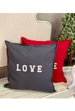 The Ritzy Gypsy Gray LOVE Pillow