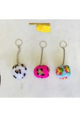 Accessories To Go RODEO QUEEN Leopard Pom Pom Keychain
