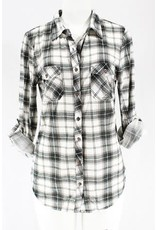 Clothing of America INTEREST Plaid Button Down Top