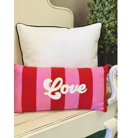 The Ritzy Gypsy VINTAGE LOVE Striped Throw Pillow