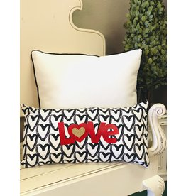 The Ritzy Gypsy LOTS OF HEARTS Throw Pillow