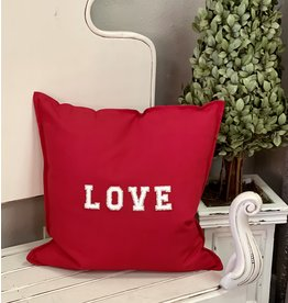 The Ritzy Gypsy Red LOVE Pillow