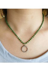 MORRIS Beaded Necklace with Crystal Pendant