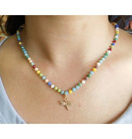 FLY BY Dragonfly Beaded Necklace