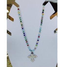 The Ritzy Gypsy CROSS Beaded Necklace (MULTI)