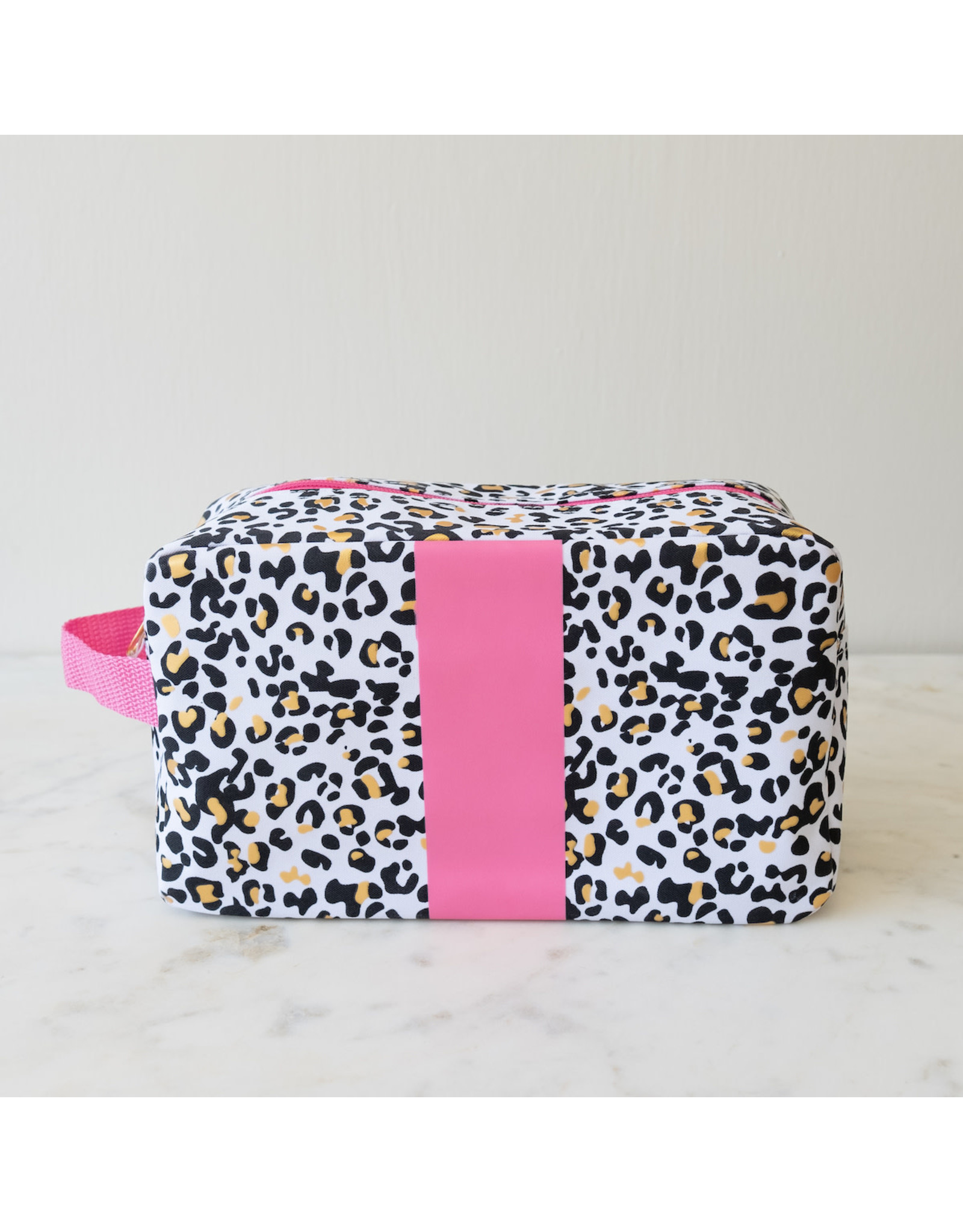 Pink & Leopard Cosmetic Bag