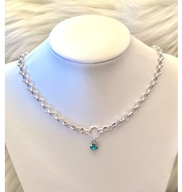 The Ritzy Gypsy EVELYN Silver Chain Necklace