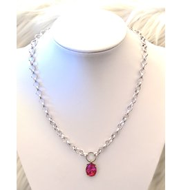 The Ritzy Gypsy SOPHIA Silver Chain Pendant Necklace