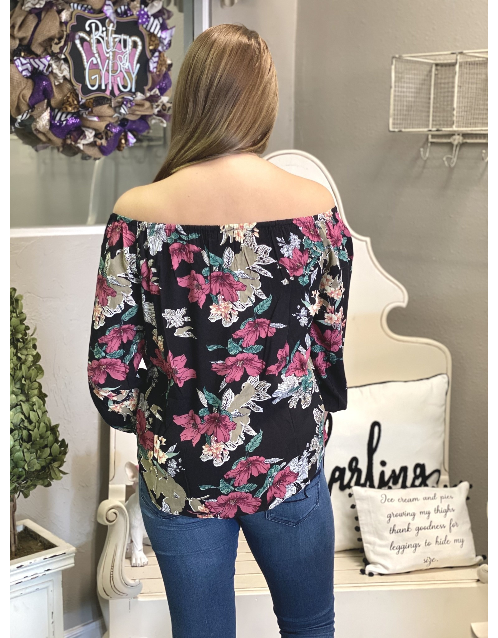 The Ritzy Gypsy LYNDSEY Off The Shoulder Top
