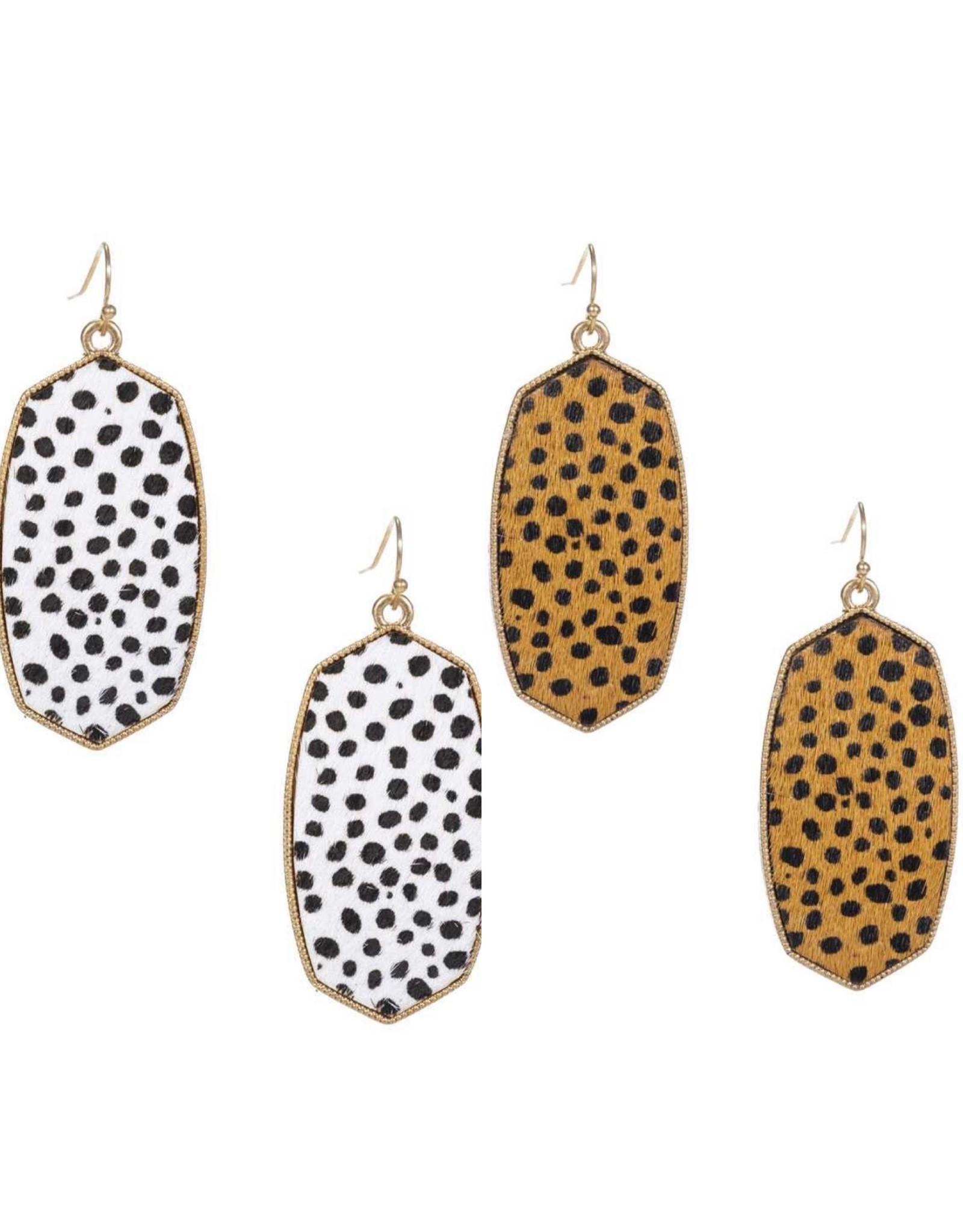 The Ritzy Gypsy OZZY Leopard Print Gold Earrings