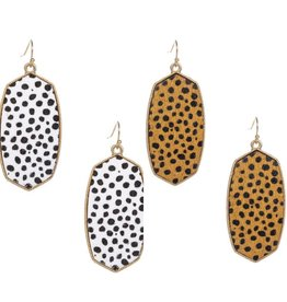 Joia Accessories OZZY Leopard Print Gold Earrings