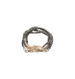The Ritzy Gypsy WOLF Chain Bracelet Set