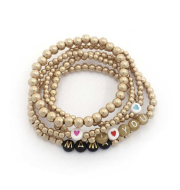 The Ritzy Gypsy MAMA Gold Braclet Set