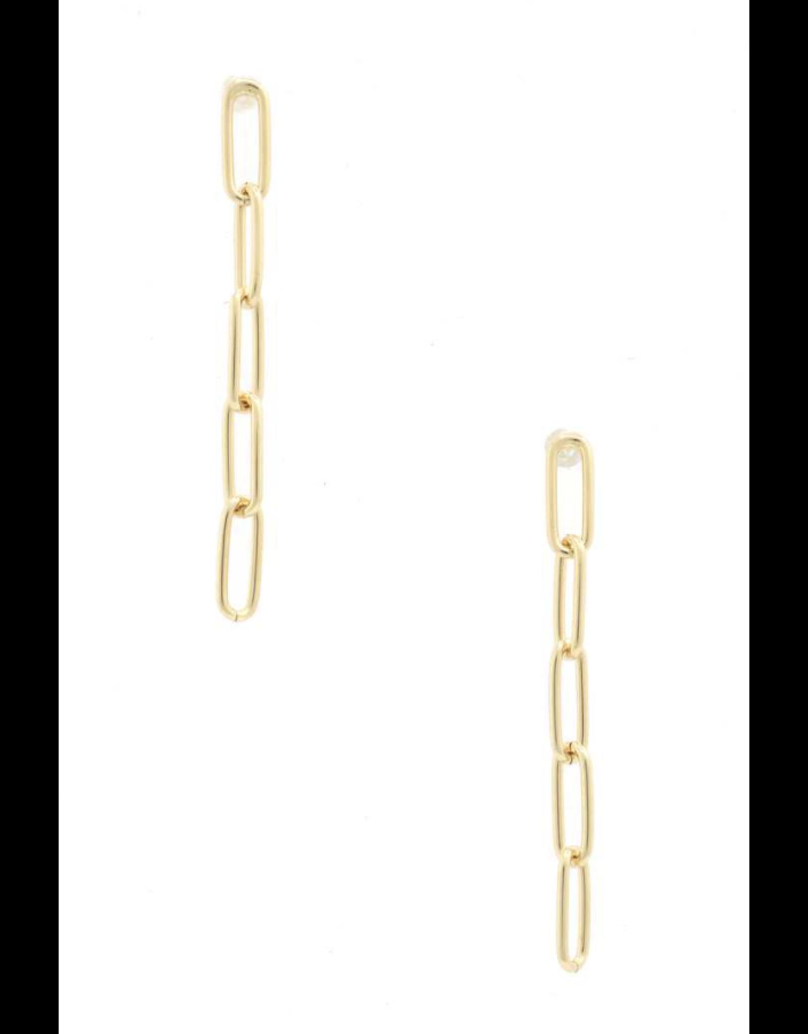 The Ritzy Gypsy JEN Mini Chain Link Earrings