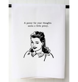 The Ritzy Gypsy A PENNY FOR THOUGHTS Hand Towel