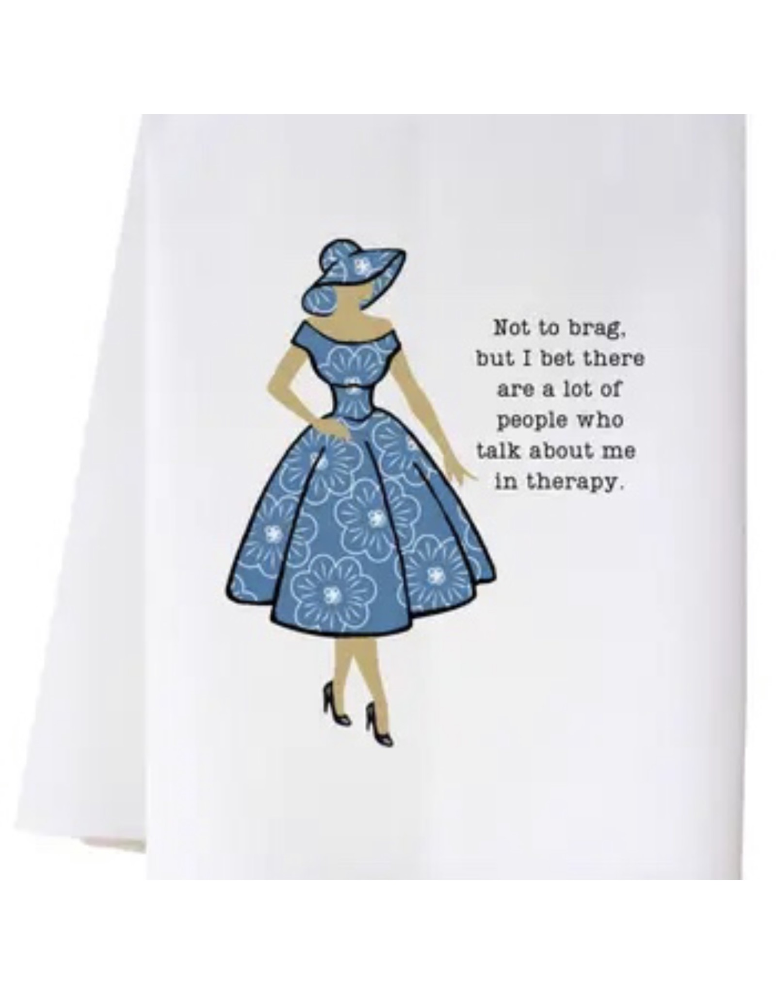 The Ritzy Gypsy NOT TO BRAG Hand Towel