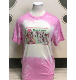 The Ritzy Gypsy GYPSY SOUL Pink Graphic Tee