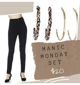 MANIC MONDAY ROXIE Legging & SEEING DOUBLE Hoops