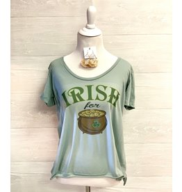 The Ritzy Gypsy IRISH FOR GOLD Graphic Tee with Crystals