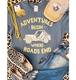 ADVENTURES BEGIN Graphic Tee