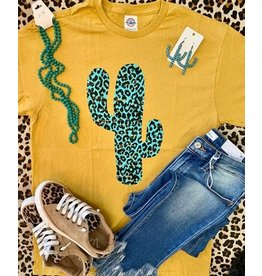 The Ritzy Gypsy MUSTARD CACTUS Graphic Tee