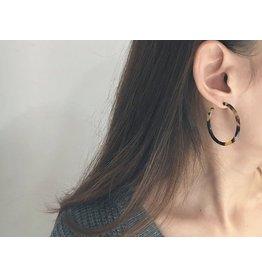The Ritzy Gypsy TATE Acrylic Tortoise Hoop Earring