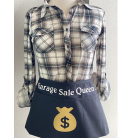 The Ritzy Gypsy GARAGE SALE QUEEN Waist Apron