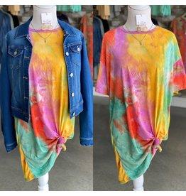 The Ritzy Gypsy BRIGHT Tie Dye Tshirt Dress