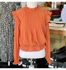 The Ritzy Gypsy LIZA Smocked Orange Private Label Top