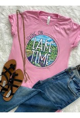 The Ritzy Gypsy LAKE TIME Pink Tee
