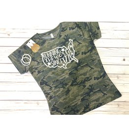 The Ritzy Gypsy RUNNING THE WORLD Camo Tee (S-XL)
