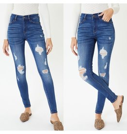 HUNTER Skinny Distressed Jeans