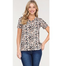 The Ritzy Gypsy LEAH Leopard Soft V-neck Tee