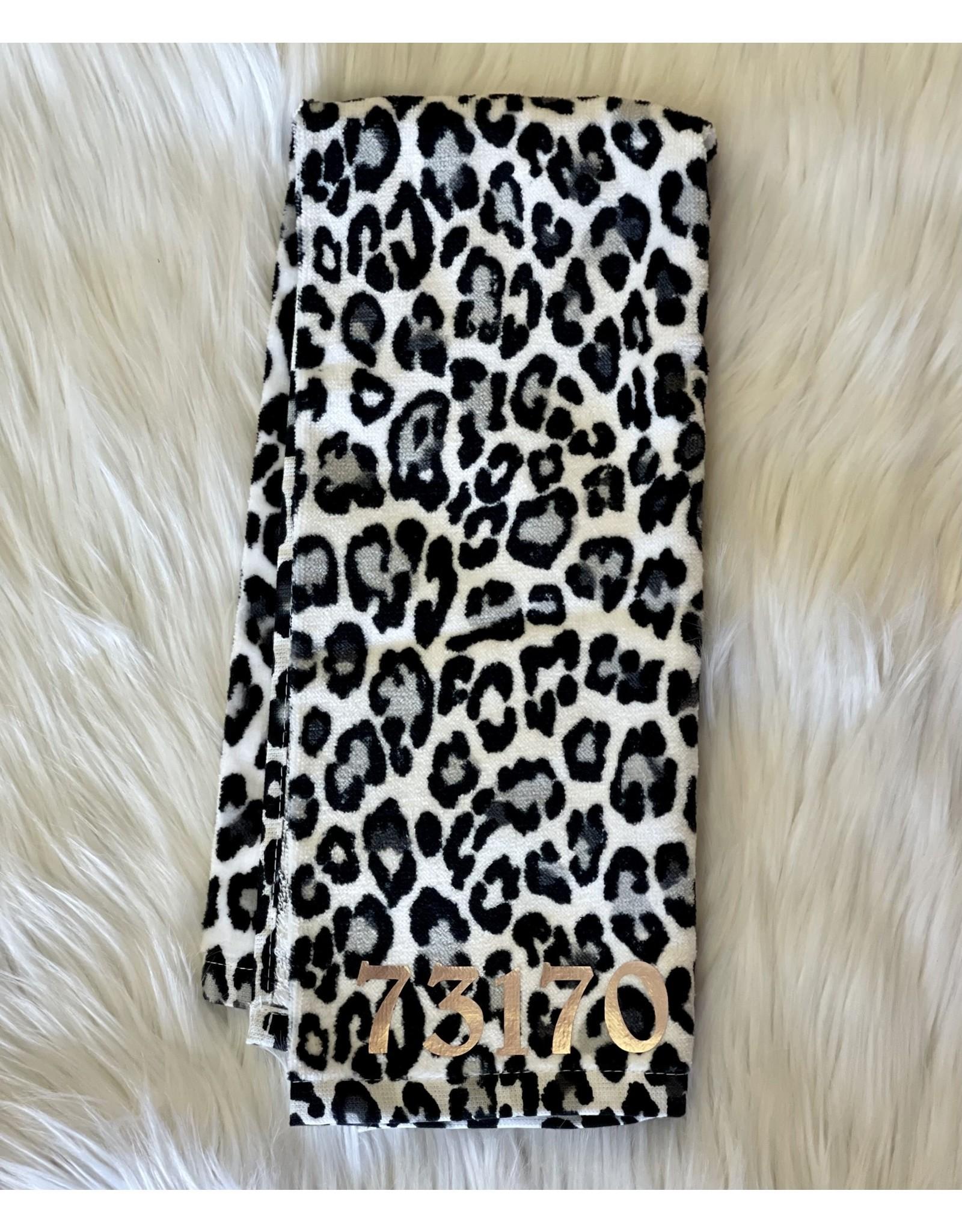 The Ritzy Gypsy Zip Code Leopard Towel
