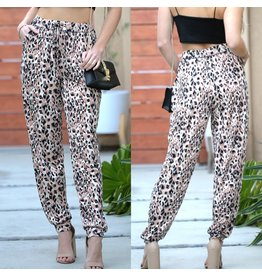 The Ritzy Gypsy LARA Leopard Elastic Waist Band Trouser