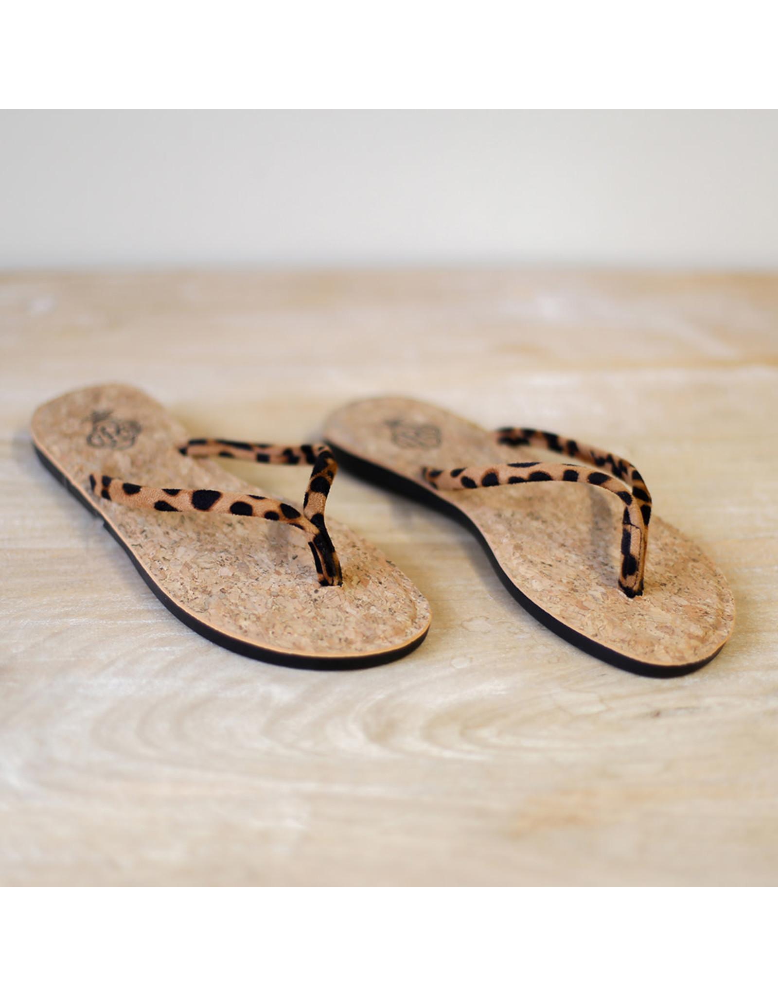 The Ritzy Gypsy CHARLEY Leopard Flip Flop