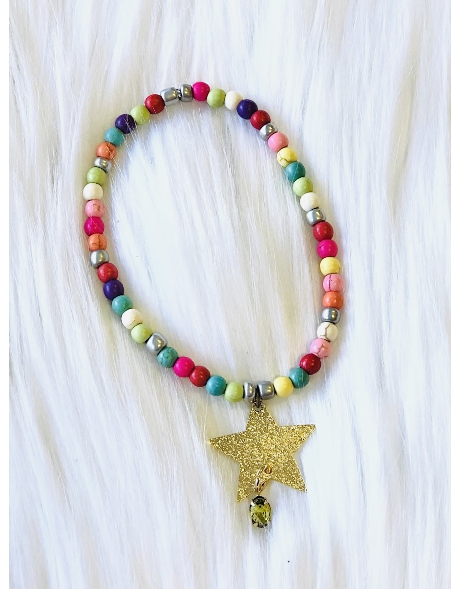 The Ritzy Gypsy GOLDEN STAR Stretch Bracelet