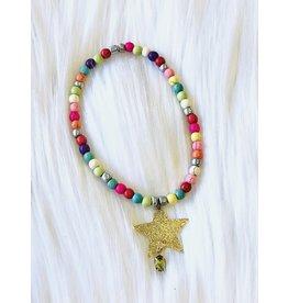 The Ritzy Gypsy GOLDEN STAR Stretch Bracelet