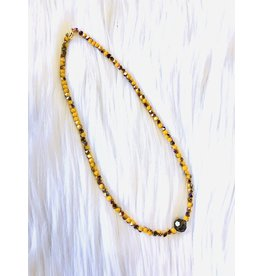 The Ritzy Gypsy ARIA Beaded Necklace with Accent
